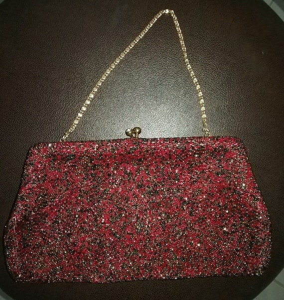 Red Bling Evening Bag by Walborg