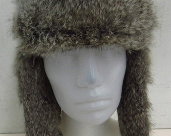e293261c615 Fab Bomber Hat with Rabbit Fur Trim