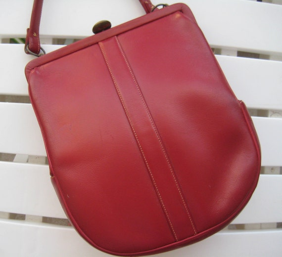 Red Leather Jenco Bag