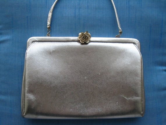Darling Silver Lame Handbag by After Five