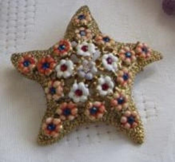 Amazing VTG Starfish Brooch by Hattie Carnegie