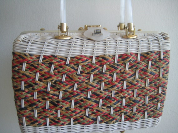 Classic Wicker Weave Bag by Stylecraft Miami