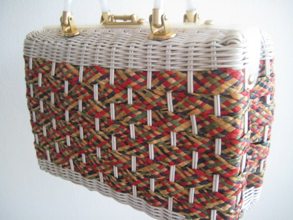 Woven Wicker Bag by Stylecraft Miami