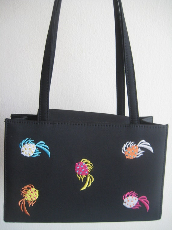Fishies!  On An Adorable Black Tote