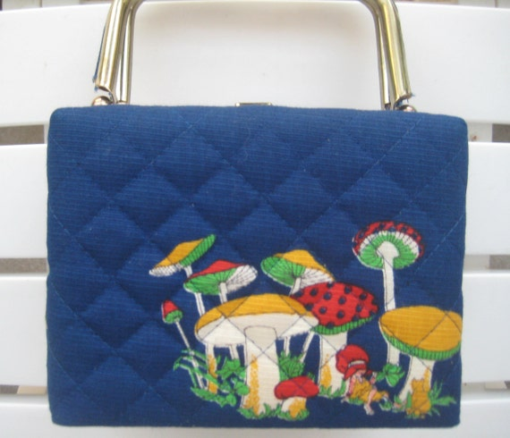 Cutest Blue Fabric Box Purse