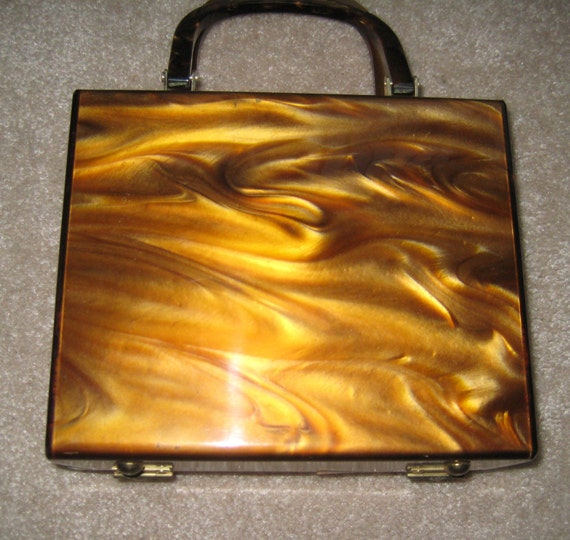 Marbled Caramel Lucite by Stylecraft Miami