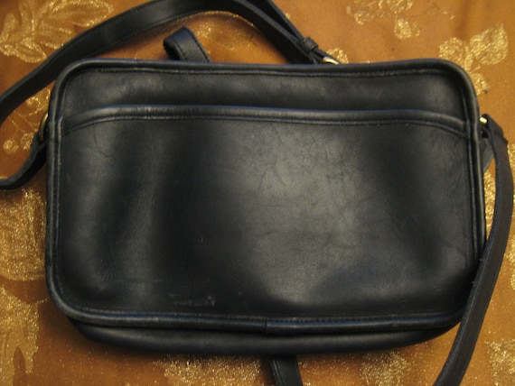 Classic Black Coach Shoulder Bag