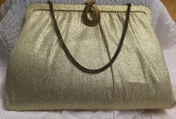 Classic Gold Evening Bag by Levine