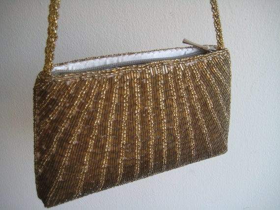 80's Gold Beaded Evening Bag Proceeds to Charity