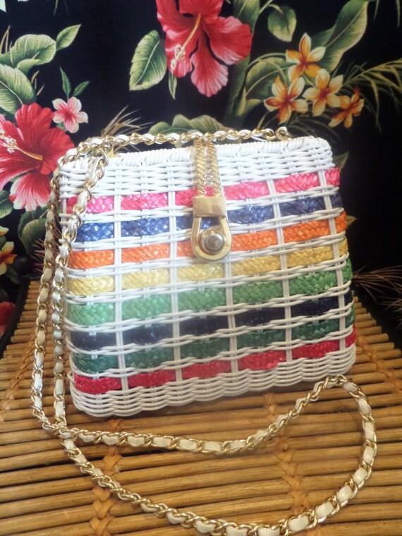 Colorful Woven Vintage Purse.