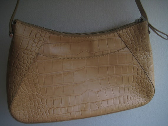 Camel Color Leather Bagette by Monsac