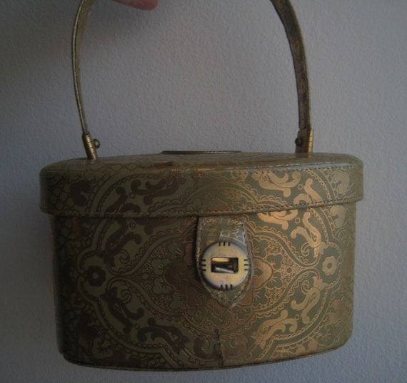 Brocade Look Box Bag by Walborg