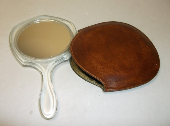 VTG Hand Mirror with Leather Cover