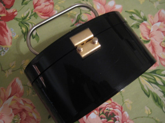 Black Lucite Box Bag by Walborg