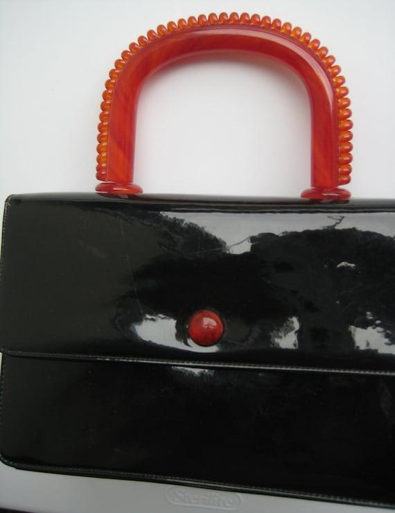 VTG Black Patent Leather Bag by Colbentz