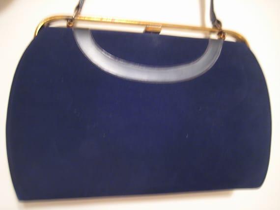 Black Suede Classic Handbag