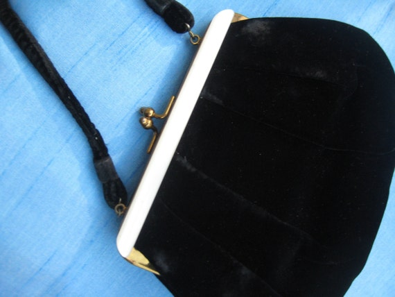 VTG Black Velvet with Bakelite Trim by Garay