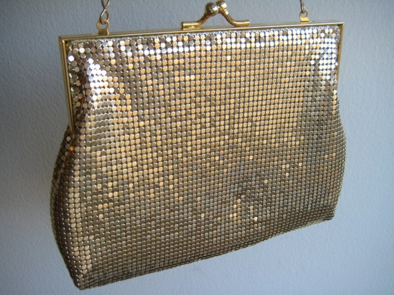 80's Gold Mesh Evening Bag Proceeds to Charity