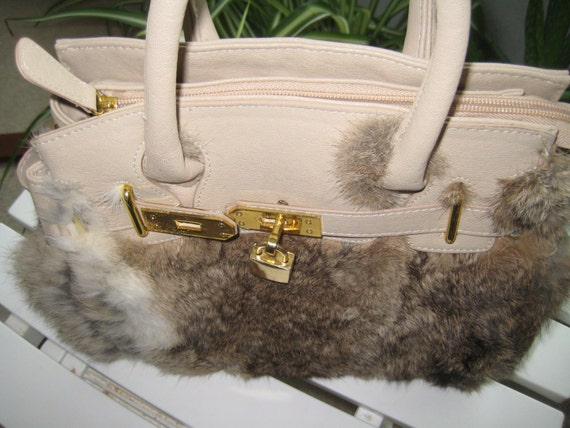 Fur Covered Handbag by Dith