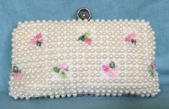 Loveliest Flower Beaded Clutch by Grandee