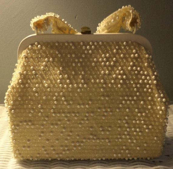 Vintage Beaded Gold Evening Bag