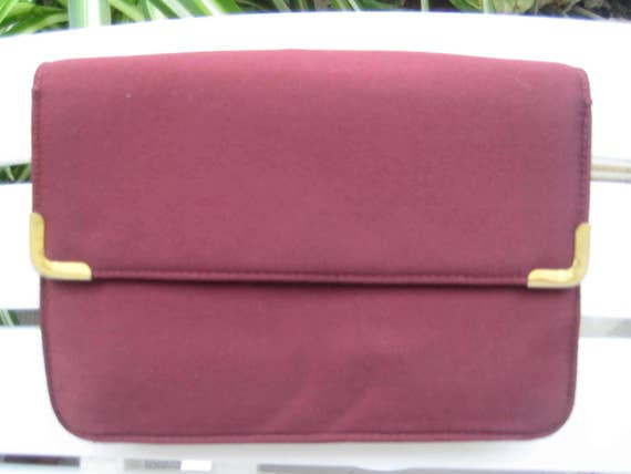 Burgundy Satin Bag by Koret