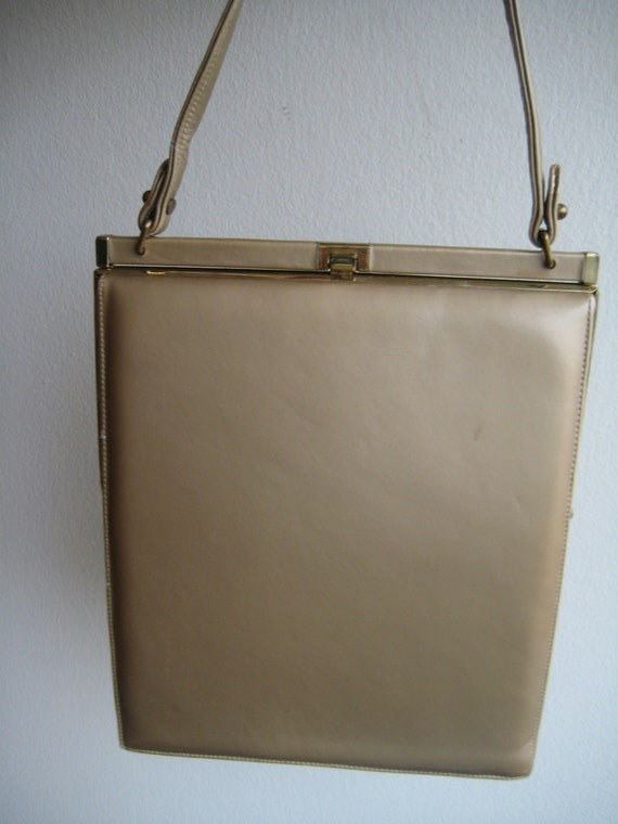 VTG Gold Leather Bag by Nicolas Reich