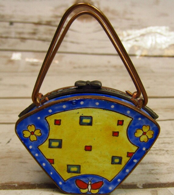 Signed Limoges Purse.  Adorable.