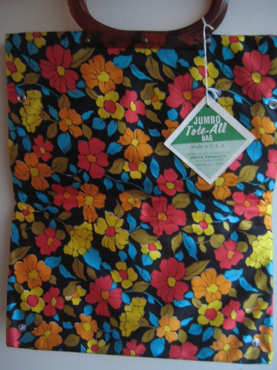 "NWT Flowered ""Tote-All"" Bag"