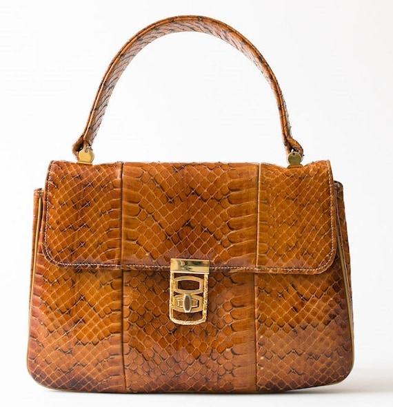 VTG Stylecraft of Miami Snakeskin Handbag