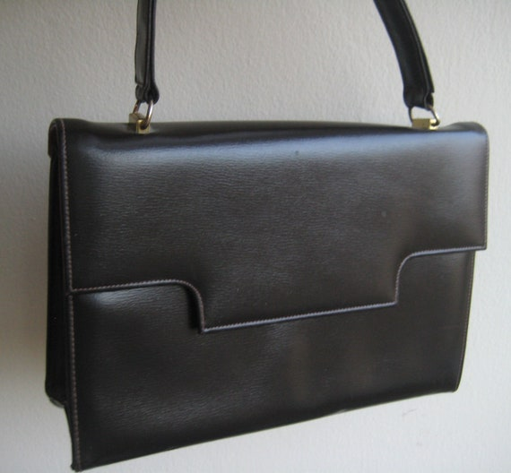 Black Leather Handbag by Cuir Veritable