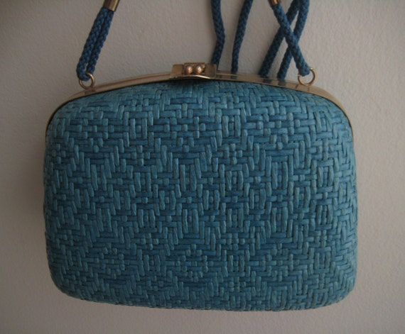 Adorable Blue Raffi Box Bag from Italy