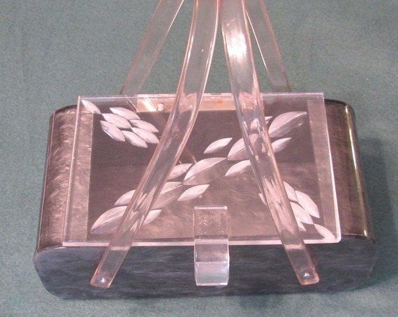 Gorgeous VTG Lucite Box Purse