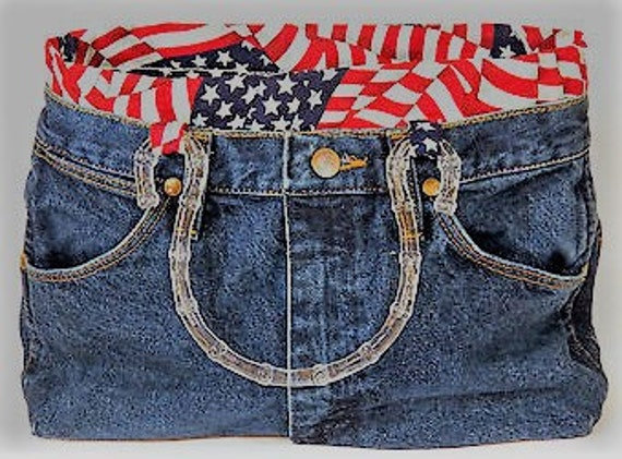 Patriotic Wrangler Jean Purse