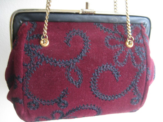 VTG Mini Carpetbag Look Satchel Purse