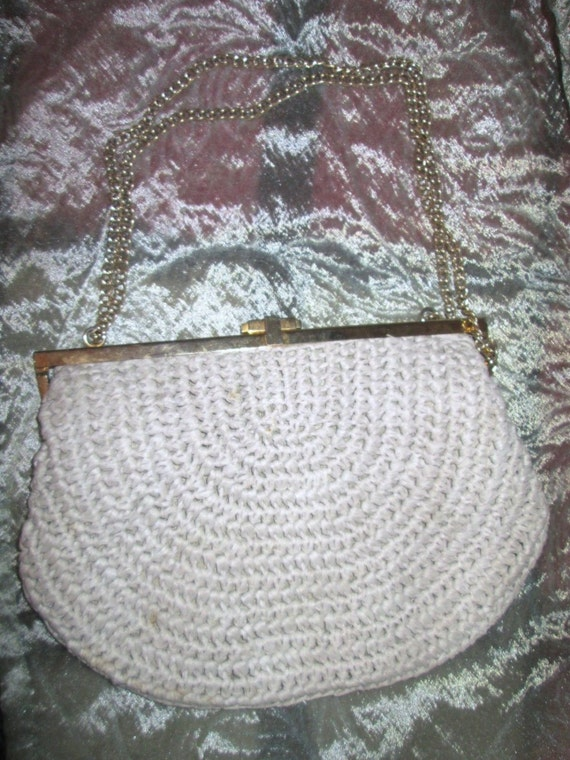 60's Woven Crochet Handbag from Italy
