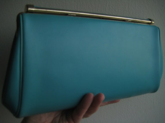My Sister's Vintage Blue Clutch