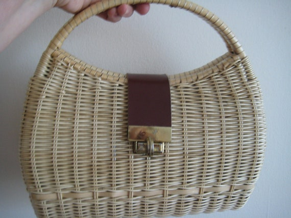 Kate Spade Style in a VTG Wicker Bag