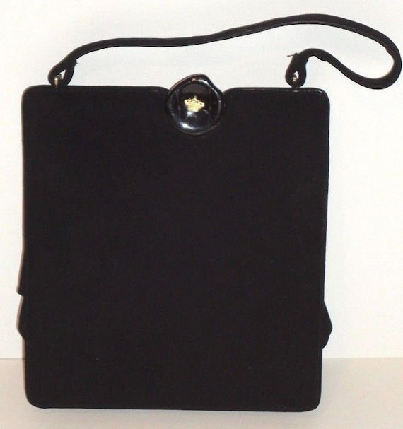 Black VTG Koret Handbag with Change Purse and Mirror