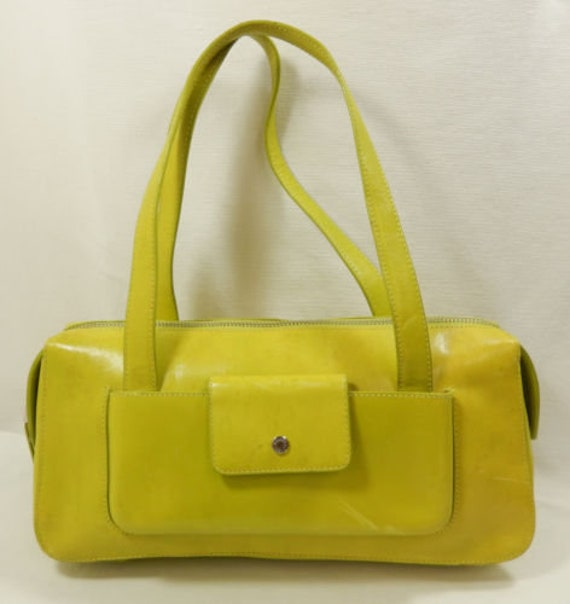 Gorgeous Green Leather Satchel by Monsac