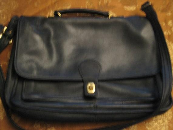 Classic Black Coach Briefcase