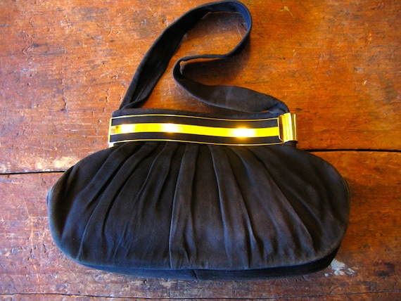 VTG Italian Pleated Suede Handbag