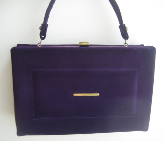 Stunning Purple Velvet Box Bag by Stylecraft Miami