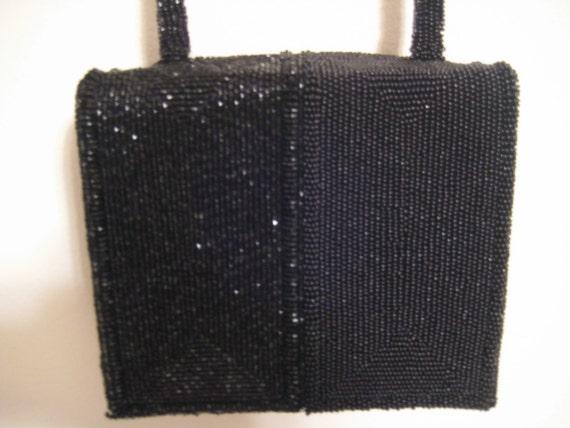 Beaded Black Evening Bag from Japan