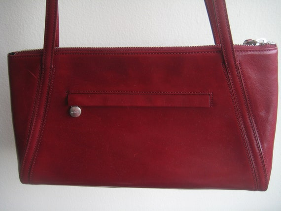 Lovely Red Satchel by Monsac