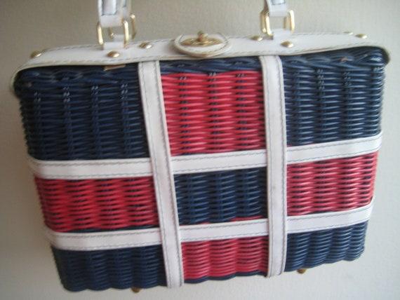 Summer-Tastic Vintage Wicker Bag