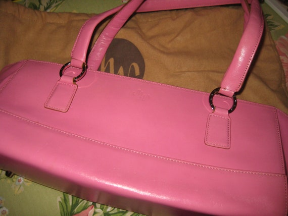 Perfect Roomy Pink Leather Bag by Monsac