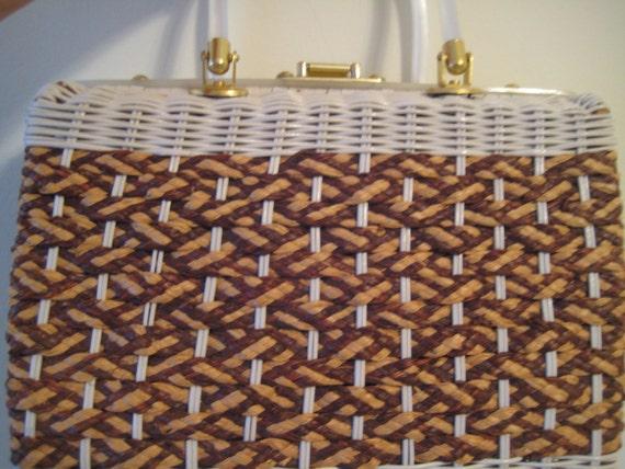Woven Wicker Bag by Stylecraft Miami