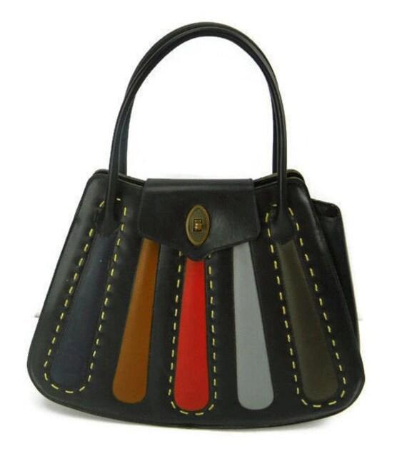 Black Stylecraft Bag with Multi Patchwork