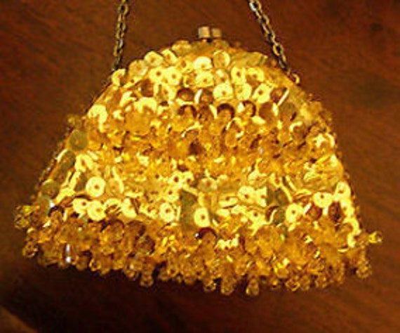 Disco Delight Gold Sequin Bag by Terner's
